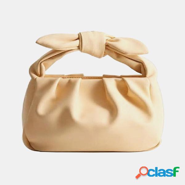 Bolsa feminina de arco bolsa casual sólida