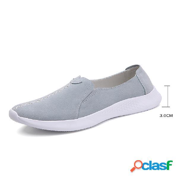 Tamanhos grandes femininos cor sólida soft sapatos baixos inferiores