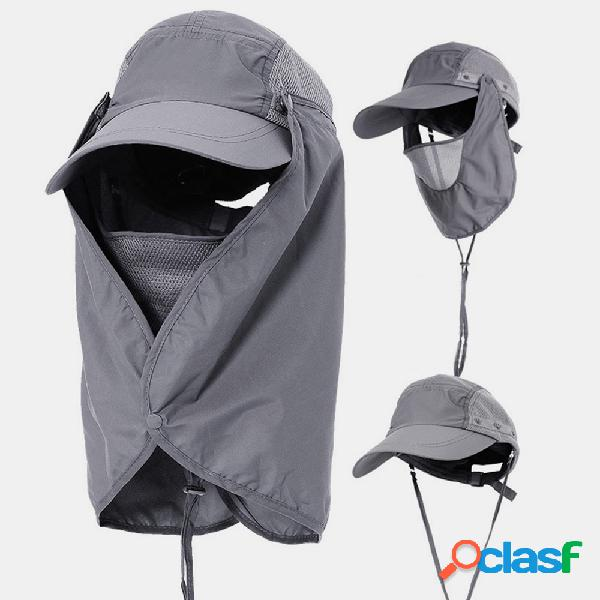 Tampa de proteção solar viseira facial pesca ao ar livre chapéu verão cap de secagem rápida respirável chapéu boné de beisebol