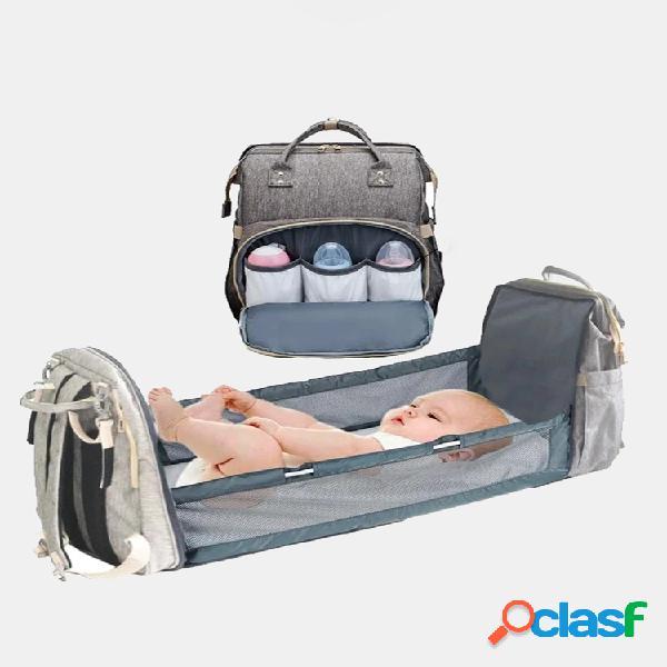 Mochila para fraldas com trocador mochila impermeável para fraldas de bebê