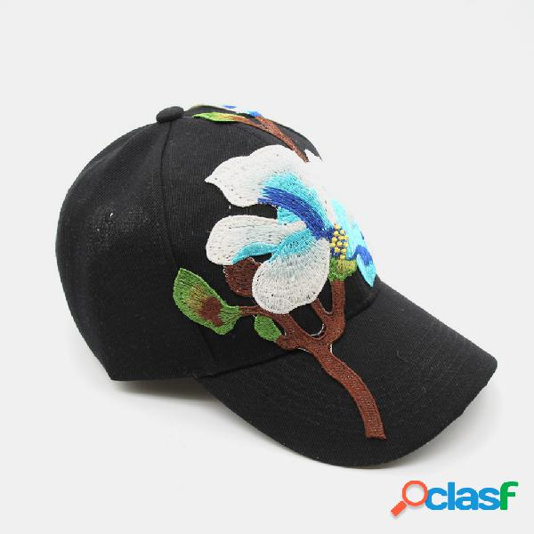 Bordado boné beisebol feminino bordado casual sol chapéu moda protetor solar