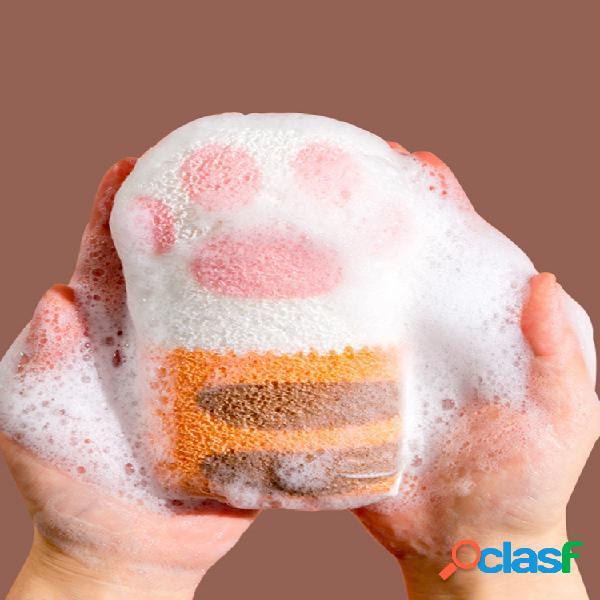 Cat paw bath cotton banheiro bola de banho de bebê shampoo de bebê esponja de banho de artefato de banho infantil toalha toalhete de banho