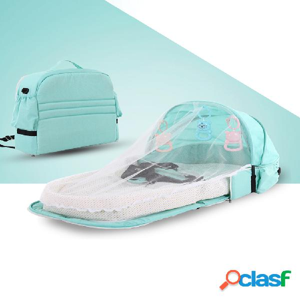 Rede mosquiteira para berço cama de bebé portátil multifuncional para viagens cama de isolamento anti-mosquito cama de bebé dobrável cama destacável cama de meio