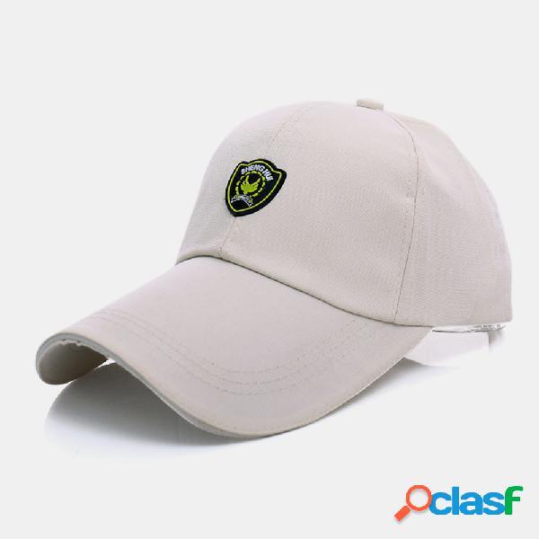Protetor solar masculino pesca ao ar livre viagem casual viseira de aba larga sol chapéu beisebol chapéu