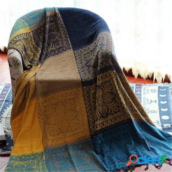 "102 * 87 ""retro multi-purpose boêmio sofá de algodão capa macio cobertor tapete"