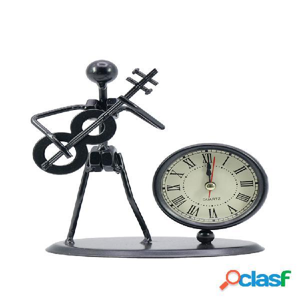 Relógio de mesa relógio de quartzo prático prático durável retro da mesa do uso home