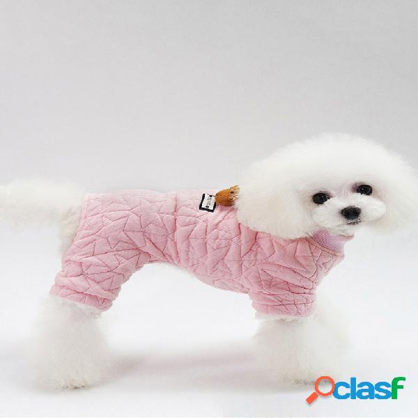 2 cores de ovelha boneca de algodão quente pet suéter cachorro roupas para o outono inverno