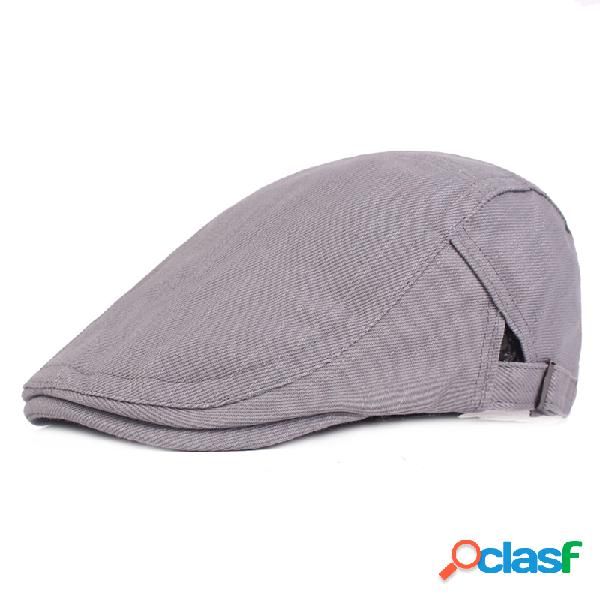 Boina de guarda-sol maciço ajustável vintage de algodão quente vintage protetor solar casual de viagem para frente chapéu