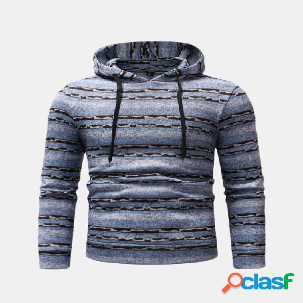 Mens com capuz com capuz com cordão manga comprida slim fit casual sweatshirt