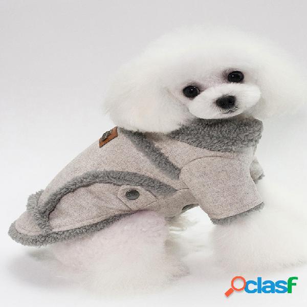 Pet dog fleece pescoço inverno quente casaco filhote de cachorro camisola macia roupas