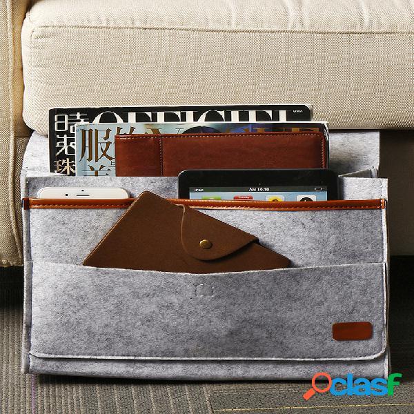 Sofá-cama de feltro suspenso bolsa cesta de armazenamento de cabeceira