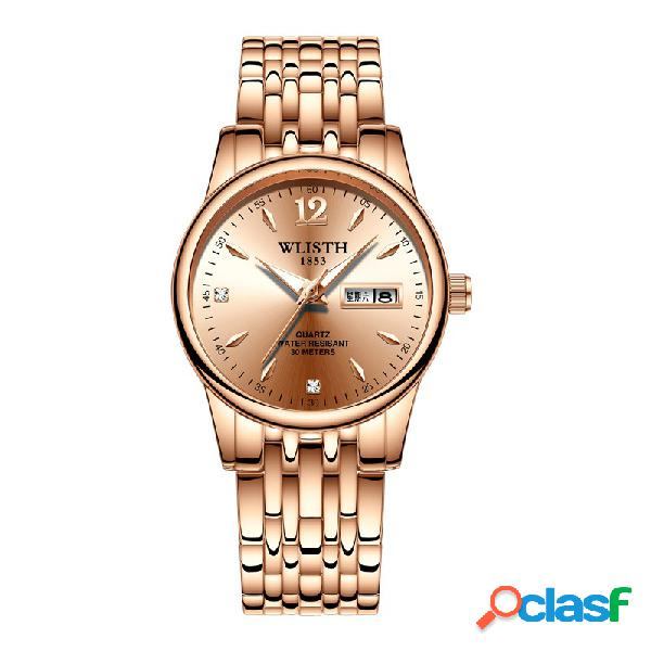 Relógio de quartzo fresco na moda luminosa à prova d 'água relógio de cintura data de exibição design relógio para as mulheres