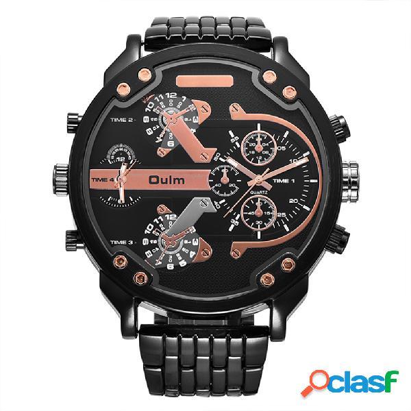 Relógio esportivo masculino mecânico relógio de formato redondo em aço inoxidável marca 4 cores para homem