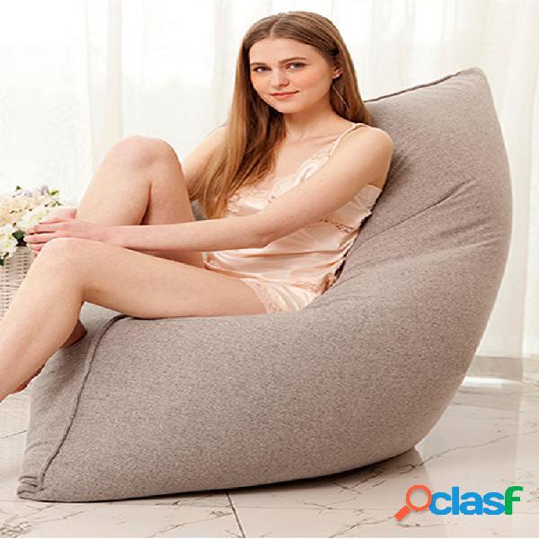 110x140cm algodão de cor sólida mais recente soft sacos de feijão capa para espreguiçadeira lavável sem enchimento