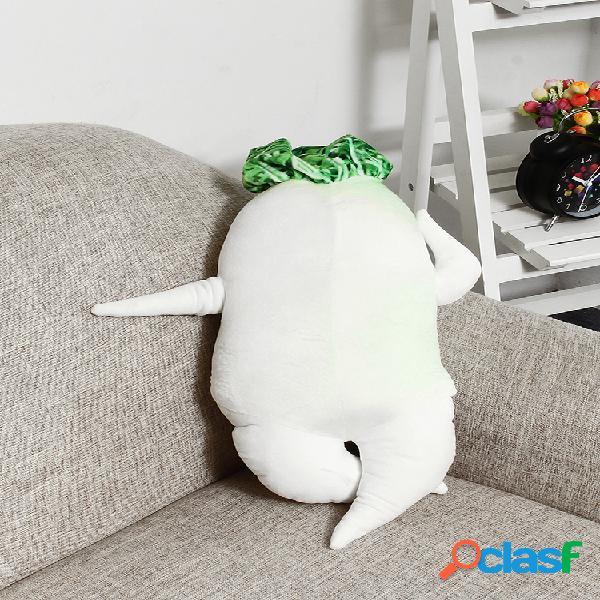 60 cm popularidade travesseiro de rabanete branco travesseiro de pelúcia curativo grande boneca