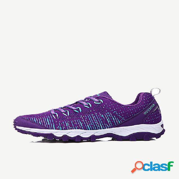 Malha respirável de corrida esportiva feminina soft calçados casuais