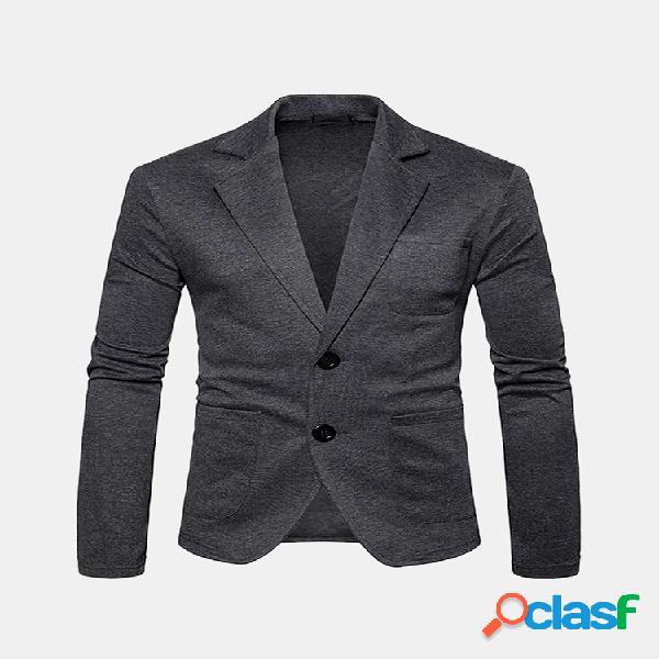Mens business multi-bolso algodão de veludo mais quente slim fit jaquetas de cor sólida ao ar livre blazers