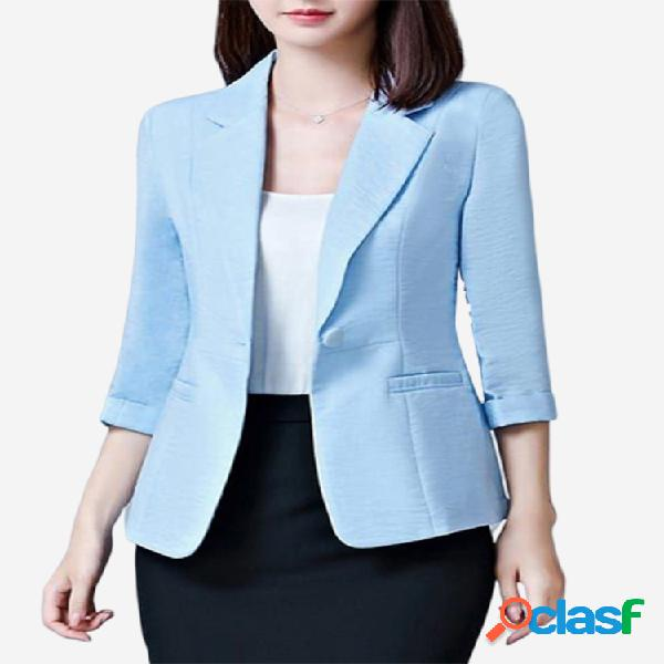 Cor sólida sete pontos manga lady office suit
