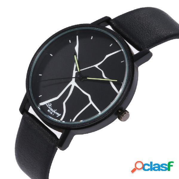 Relógio de quartzo de mulheres de moda de flash relógio de quartzo de relógio de mulheres de couro de pu