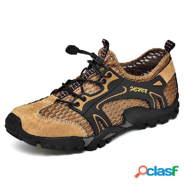 Malha de secagem rápida masculina respirável antideslizante soft com sola ao ar livre sapatos aquáticos