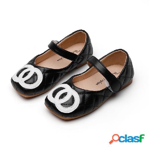 Sapatos de dança para meninas comfy square toe gancho loop soft sole princesa sapatos