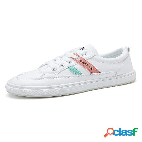 Calçados casuais femininos soft respirável escolar natural classic atlético branco