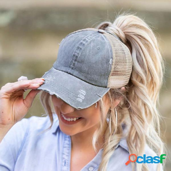 Protetor solar feminino ao ar livre chapéu boné de beisebol da moda verão casual chapéu uv proteção