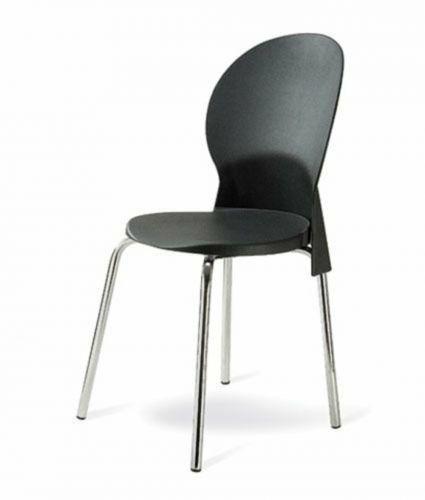 Cadeira base cromada linha polipropileno milano