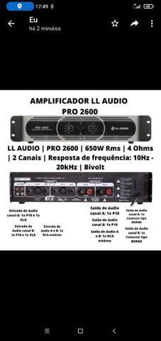 Amplificador de som ambiente ll audio pro 2600 650w wrm