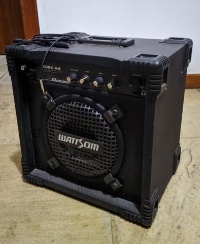 Caixa de som amplificador wattsom cube 60