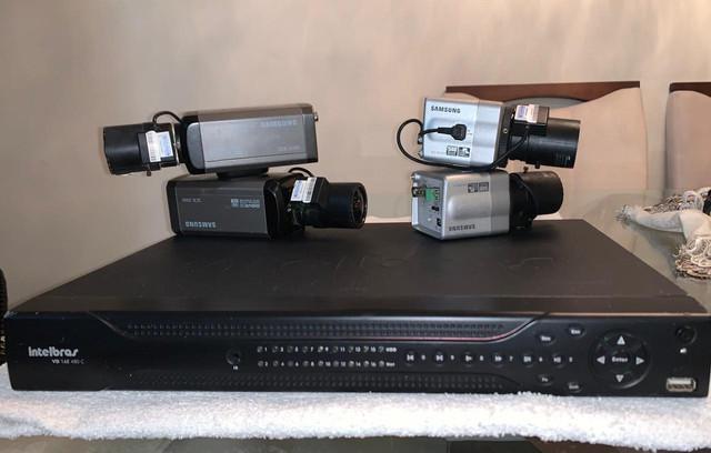 Câmera de segurança samsung e dvr intelbras
