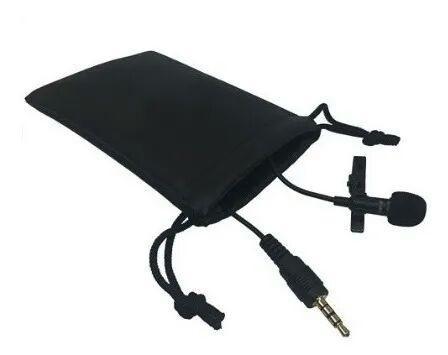 Microfone lapela para gravação e celulares