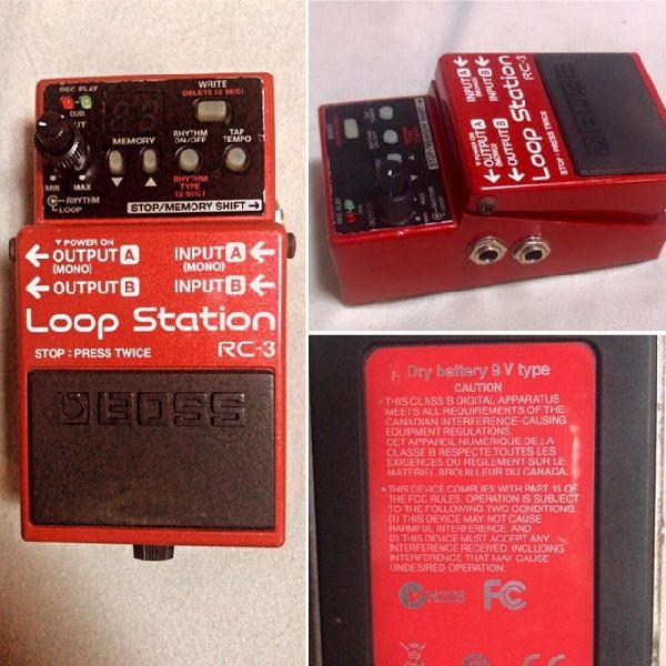 Pedal boss rc3 loop station