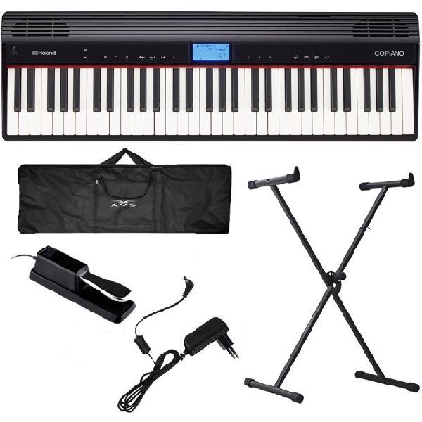 Piano digital roland go piano go61p bluetooh 61 teclas + kit