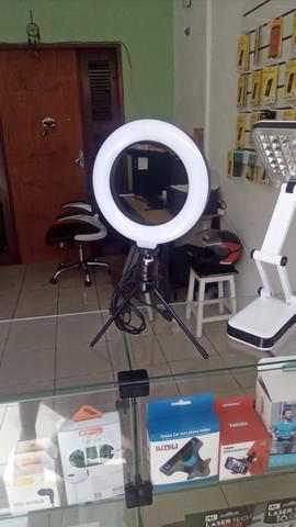 Ring light led mesa iluminador pequena tripé 6 polegada