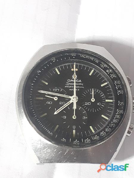 Relógio marca omega modelo mak ll aço couro