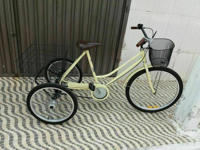 Bicicleta triciclo freios a disco ótimo preço