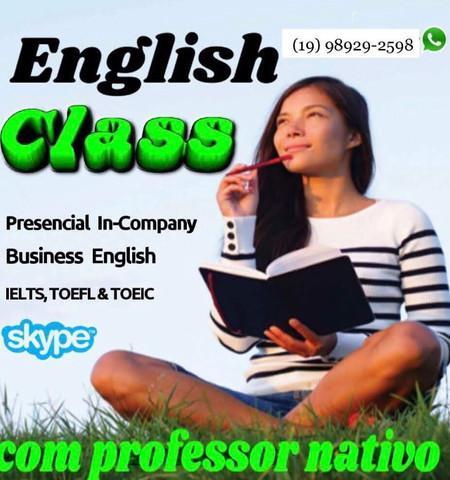 Professor de inglês nativo do canadá. business english,
