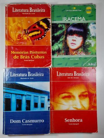 Kit 4 livros da coleção literatura brasileira-usado