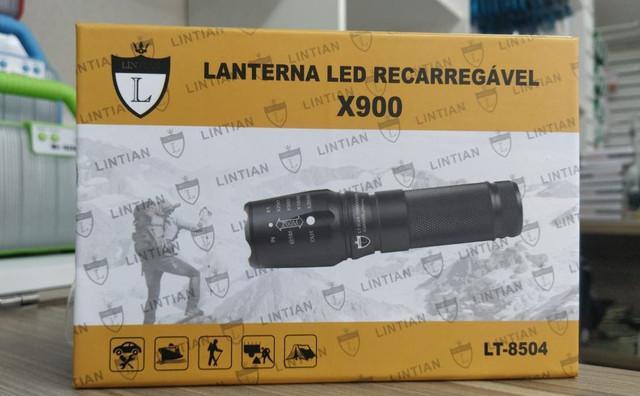 Lanterna tática recarregável x900