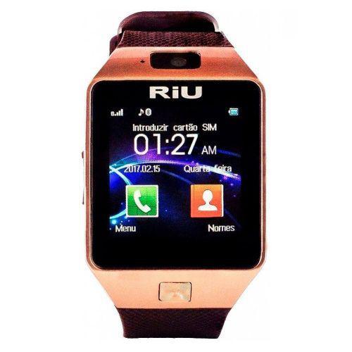Smartwatch riu r-160 micro chip c/u00e2mera 2.0 32mb mp3 mp4