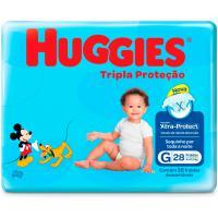 Fralda huggies tripla protetor jumbo g 28 unidades <div