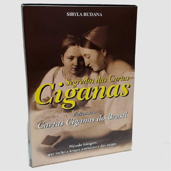 Box - segredo das cartas cigana- livro + baralho 36 cartas