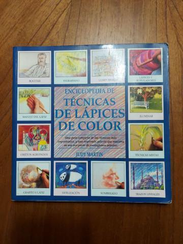 Livro enciclopédia de técnicas de lápis de color