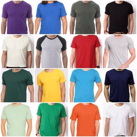 Camiseta 100% algodão sem estampa fio 30.1 lisa atacado