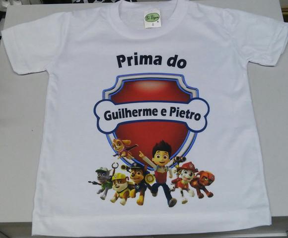 Camiseta branca 100% poliéster (tradicional)