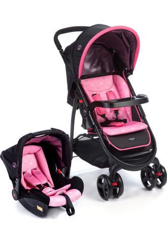 Carrinho de bebê + bebê conforto travel system nexus rosa