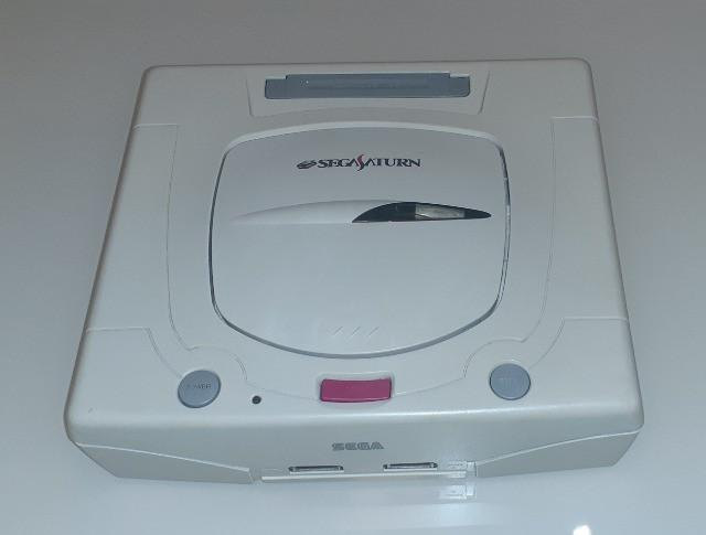 Sega saturn funciona perfeito sega saturno video game antigo