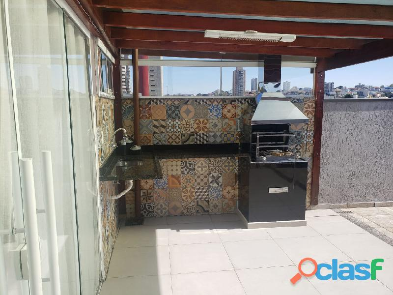 Cobertura sem condomínio 128 m² em santo andré   bairro jardim.