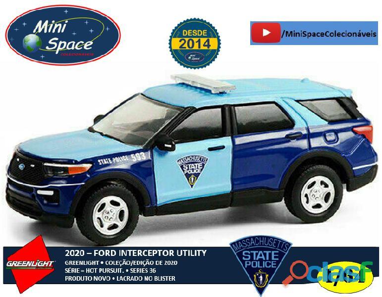 Greenlight 2020 ford police interceptor utility polícia 1/64